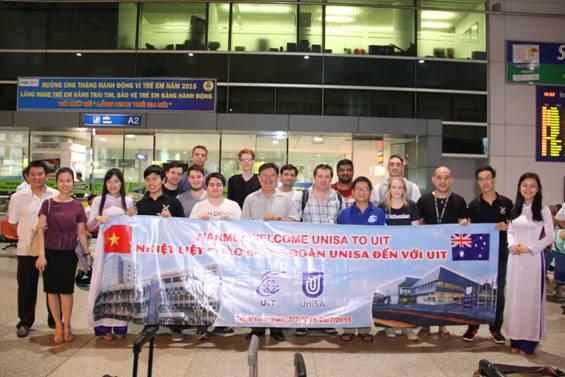 Tiếp đón đoàn Giảng viên, Sinh viên UniSA đến thăm quan và học tập tại UIT