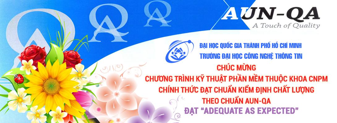 Chúc mừng khoa CNPM chính thức đạt chuẩn kiểm định chất lượng AUN-QA