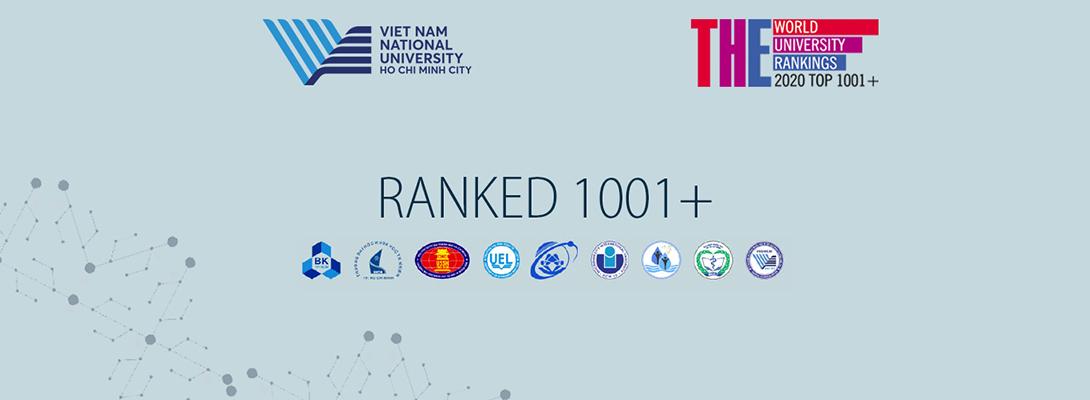 ĐHQG-HCM đứng trong top 1001+ trên Bảng xếp hạng THE