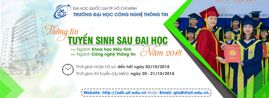 Thông tin tuyển sinh SĐH 2018