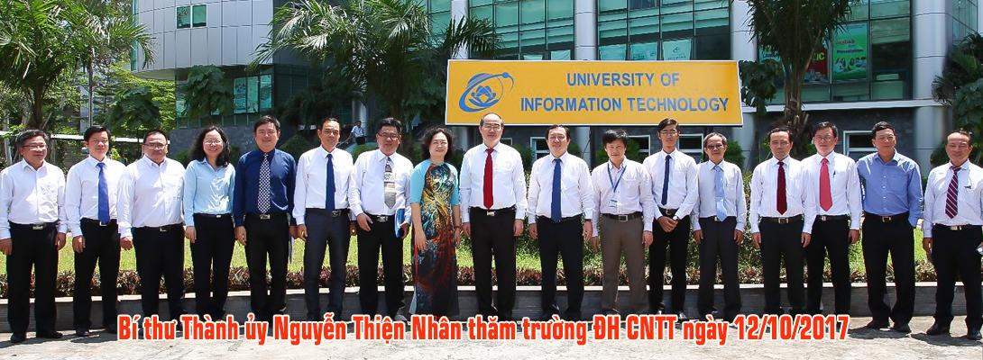 Bí thư Thành ủy Nguyễn Thiện Nhân đến thăm trường ĐH CNTT
