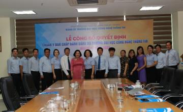 Buổi lễ trao Quyết định chuẩn y Ban Chấp hành  Đảng bộ Trường ĐH CNTT