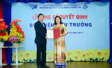 TS Nguyễn Hoàng Tú Anh được bổ nhiệm chức vụ  Hiệu trưởng Trường Đại học Công nghệ thông tin