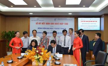 Trường Đại học Công nghệ Thông tin và ký kết hợp tác với bệnh viện Đại học Y dược