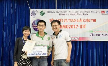 Sinh viên khoa Kỹ thuật Máy tính đạt giải nhất và giải ba vòng quốc gia cuộc thi AMO2017