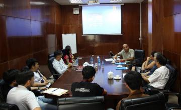 Trường ĐH Công nghệ Thông tin làm việc với Giáo sư Imad Saleh
