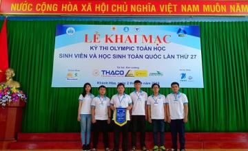 Sinh viên đạt 07 giải thưởng kỳ thi Olympic Toán toàn quốc