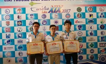 Sinh viên khoa KTMT đạt giải thưởng sinh viên nghiên cứu khoa học EURÉKA