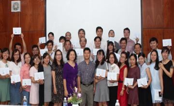 Lễ bế giảng lớp nghiệp vụ sư phạm dành cho Giảng viên cao đẳng và đại học năm 2017