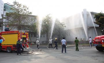 Tập huấn công tác phòng cháy, chữa cháy