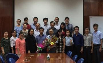 Lễ công bố quyết định sáp nhập và trao quyết định bổ nhiệm nhân sự tại Trung tâm Ngoại ngữ ĐH CNTT