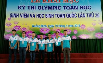 Sinh viên UIT đạt 1 huy chương vàng, 1 huy chương bạc và 4 huy chương đồng cuộc thi Olympic Toán sinh viên toàn quốc năm 2018
