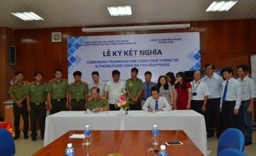 Lễ ký kết nghĩa giữa công đoàn - Trường ĐH CNTT và  Phòng PA88 – Công an Tỉnh Bình Phước