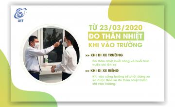 Từ ngày 23/03/2020 thực hiện đo thân nhiệt trước khi vào Trường
