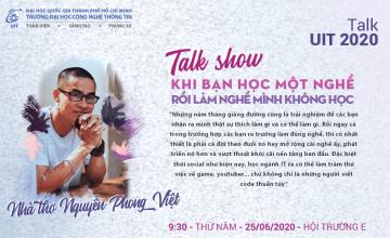Talk UIT 2020 - Giao lưu cùng nhà thơ Nguyễn Phong Việt