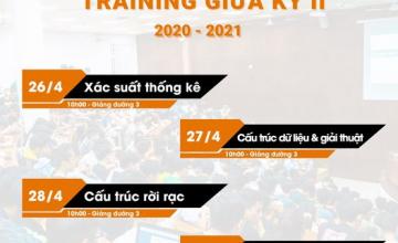 THÔNG BÁO TRAINING GIỮA KỲ - K14 & K15 KHOA CNPM