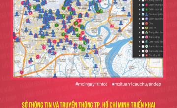 Bản đồ tình hình dịch bệnh Covid-19 tại TP.Hồ Chí Minh