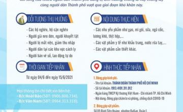 """Chương trình """"Mỗi người một tay đồng hành cùng thành phố Hồ Chí Minh vượt qua đại dịch"""""""