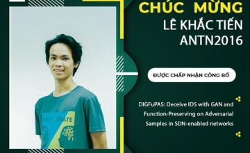 Chúc mừng sinh viên Lê Khắc Tiến đã có công trình nghiên cứu được chấp nhận đăng tại Tạp chí Computers & Security.