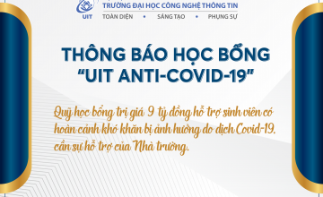 Quỹ học bổng UIT Anti-Covid-19 tiếp thêm động lực cho sinh viên UIT