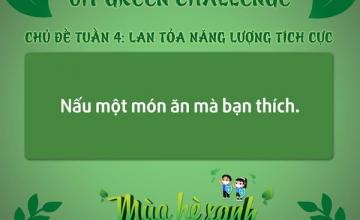 MÙA HÈ XANH 2021 - UIT GREEN CHALLENGE TUẦN 4