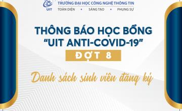 Danh sách sinh viên đăng ký học bổng UIT Anti-Covid-19 (Đợt 8)