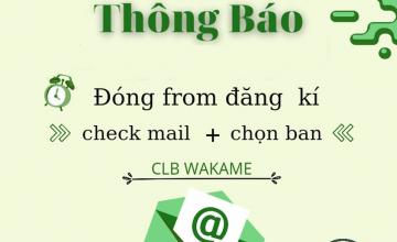 Thông báo check mail và chọn ban