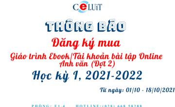 Đăng ký mua giáo trình Ebook và tài khoản bài tập Online (đợt 2)