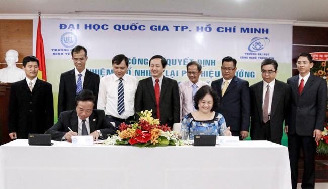 Lễ ký kết hợp tác của Trường ĐH CNTT và Trường ĐH Kinh Tế-Luật